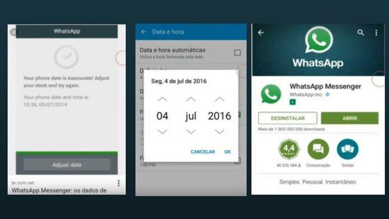 Resolvendo erro de data e hora do WhatsApp